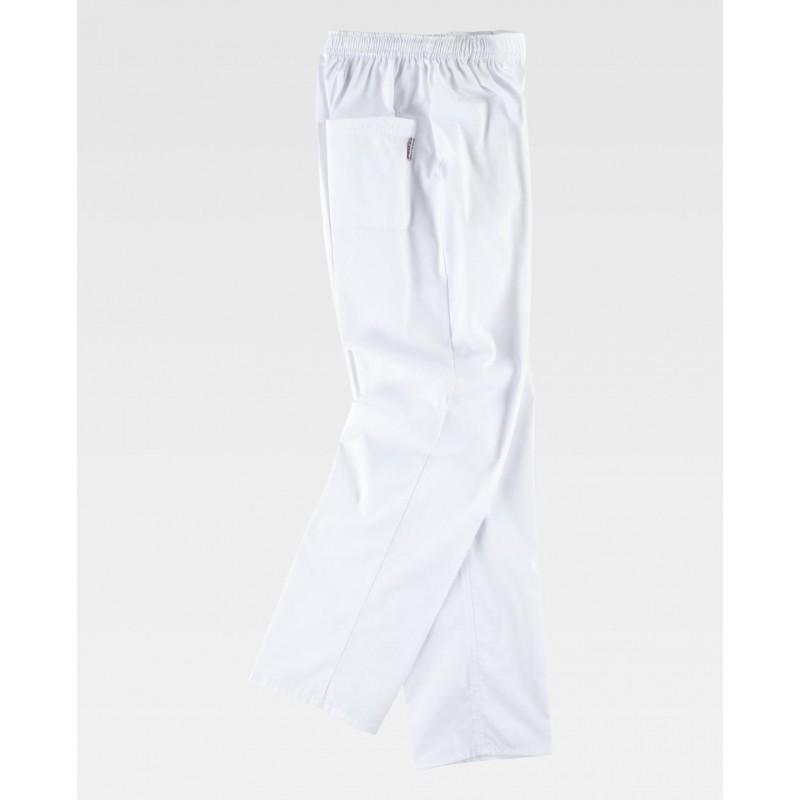 Pantalón de uniforme sanitario blanco