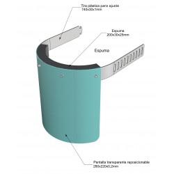 Pantalla de protección anticontagio