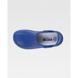 Zueco ultraligero de EVA azul