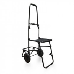 Trolley asiento plegable. Negro.