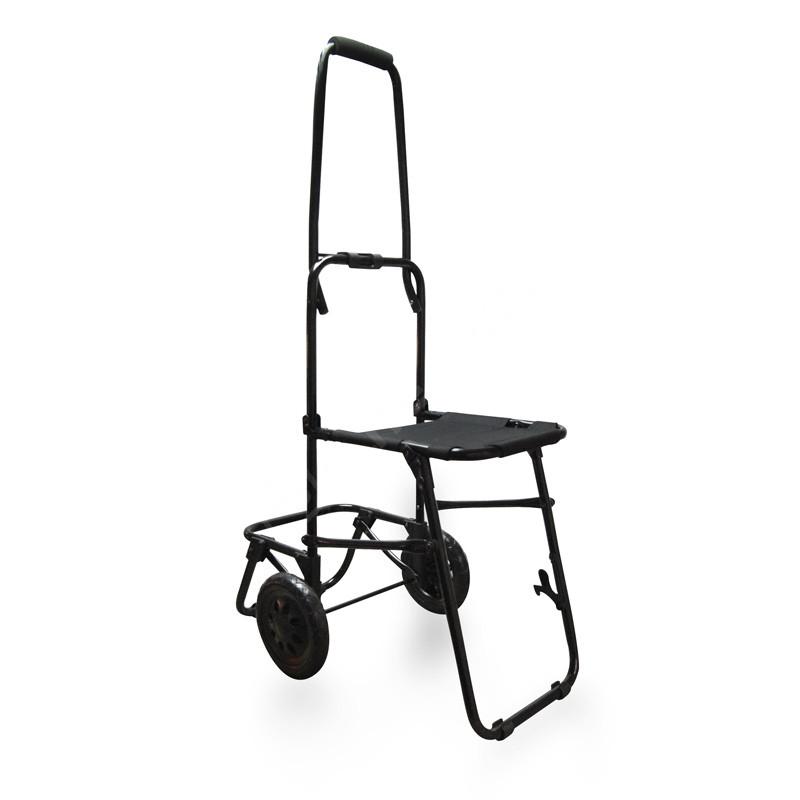 Trolley asiento plegable. Negro.