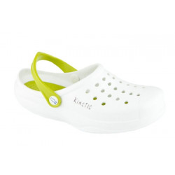 Zuecos sanitarios Kinetic blanco y pistacho